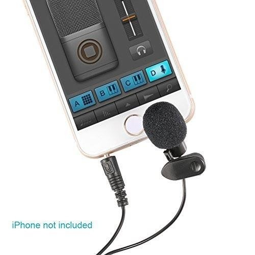 Neewer 10X 3.5mm Hands Free Computer Clip on Mini Lapel Microphone