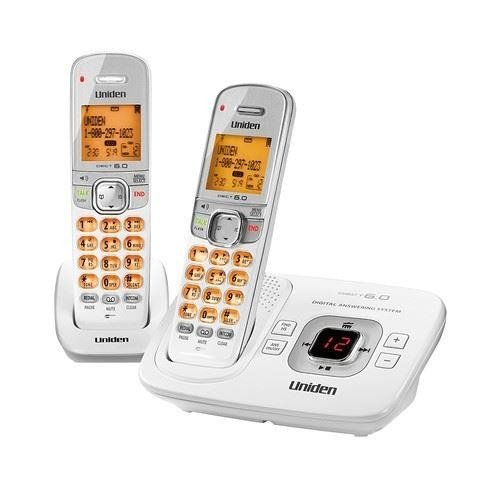 Uniden D1780-2 Expandable Cordless Phone with Handset - White