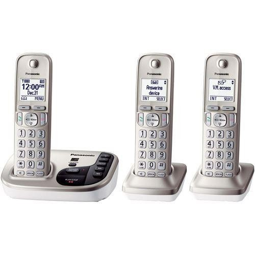 Panasonic KX-TGD223N Cordless Phone with 3 Handsets