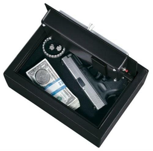 Stack-On Personal Pistol Drawer Safe w/Electronic Lock Black