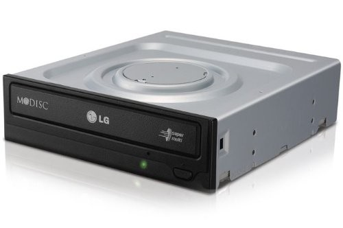 LG Electronics DVDRW 24x SATA Optical Drive, Black (GH24NSB0R)