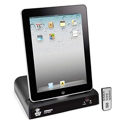 Pyle iPod/iPad/ Docking Station for Audio and Video Output Charging Sync with iTunes and Remote (For 30 Pin Ipods )