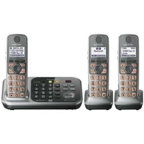 Panasonic - Link-to-Cell DECT 6.0 Plus Expandable Cordless Phone System