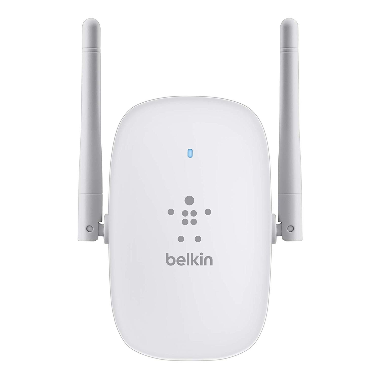 Belkin N300 Dual-Band Wi-Fi Wi-Fi range extender - 2.4/5 GHz - 300 Mbps - Wi-Fi