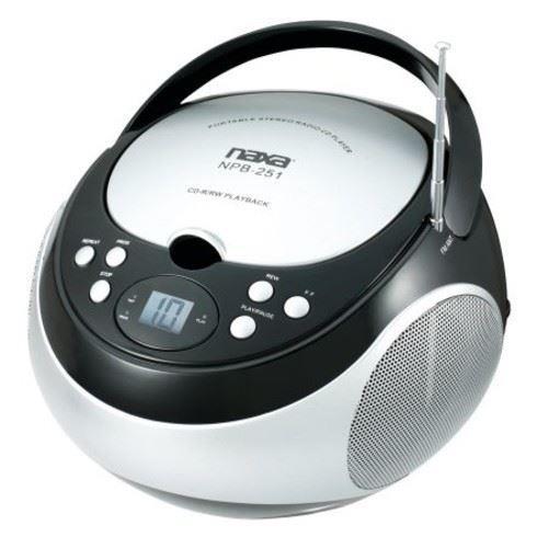 NAXA NPB-251BK Naxa Portable CD Player with AM/FM Black