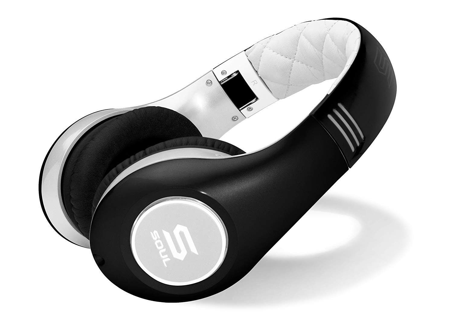 SOUL by Ludacris SL150BW High-Definition On-Ear Wired Headphones Black/White Color