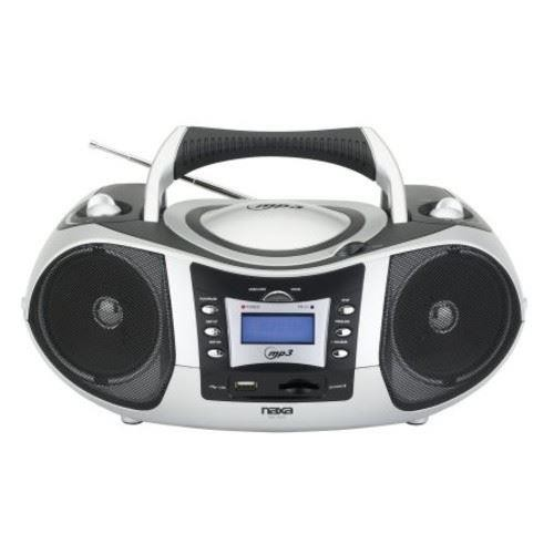 NAXA Electronics Portable MP3/CD Player with Text Display, AM/FM Stereo, USB/SD/MMC Inputs [Standard Packaging]
