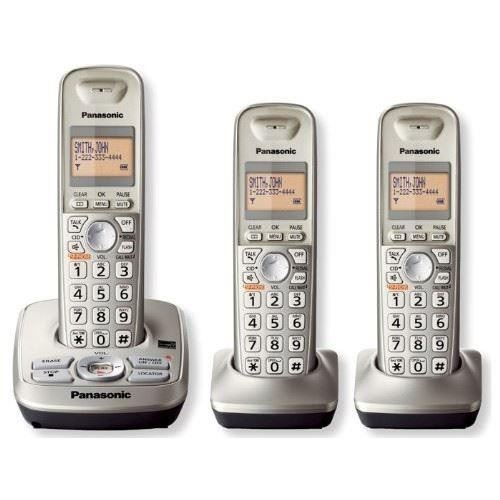 Panasonic KXTG4223N DECT 6.0 3-Handset Phone System with Answering Capability